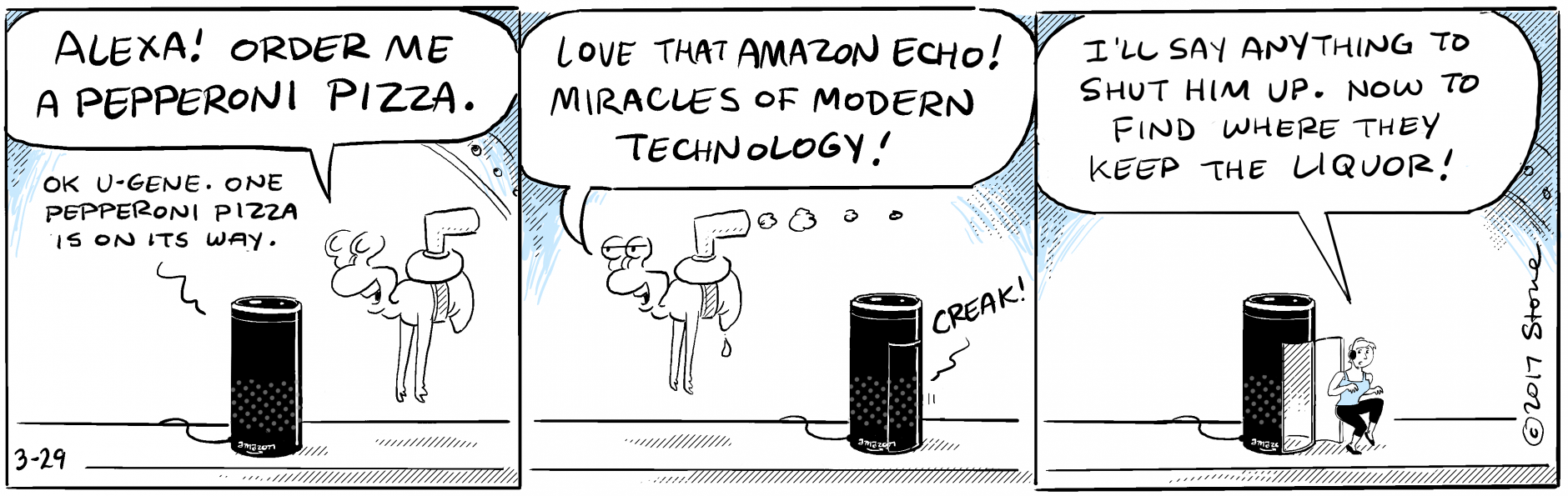 U-Gene marvels at the miracles of modern technology with his #AmazonEcho.