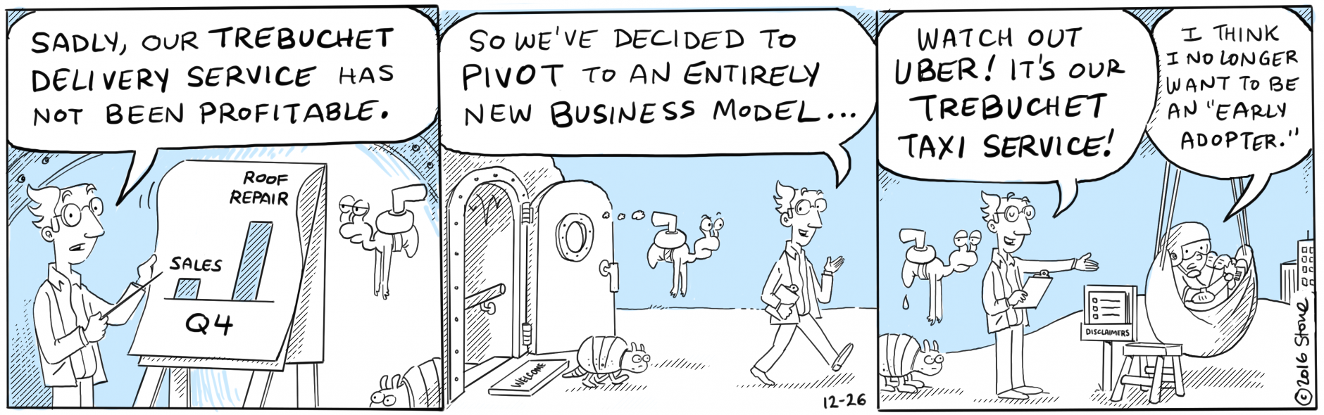 Watch out @JeffBezos! Zeno launches (literally) his new delivery service to compete with #Amazon's #Drone #PrimeAir.