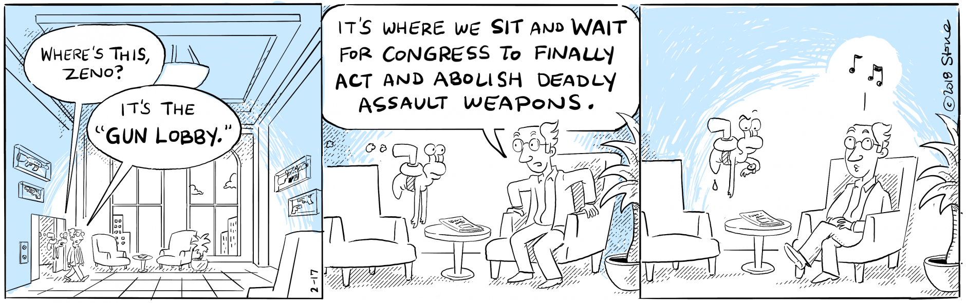 "Zeno and U-Gene kick back in the ""Gun Lobby."" @NRA #GunControlNow"